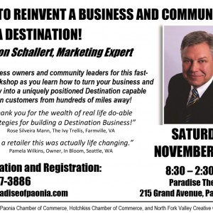 Reinvent a Business and Community into a Destination